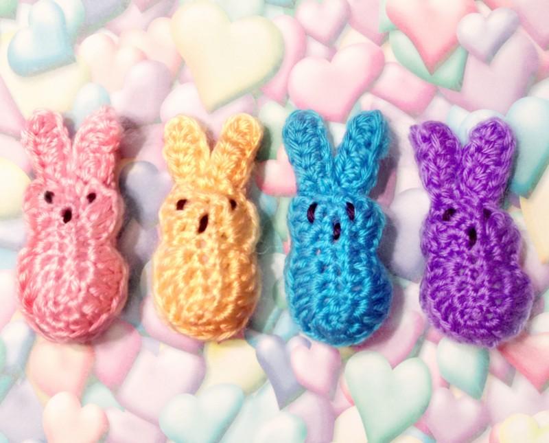 Crocheted Easter Peeps - mellie blossom