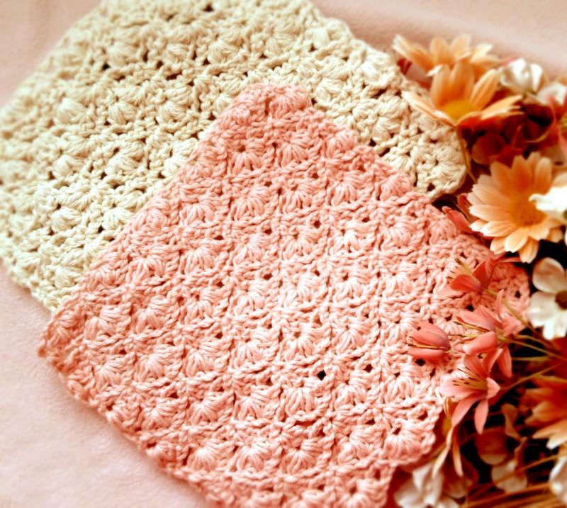 Crochet Flower Spring Washcloth