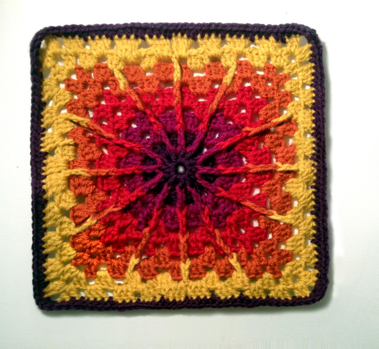Double Triple Crochet Square - mellie blossom