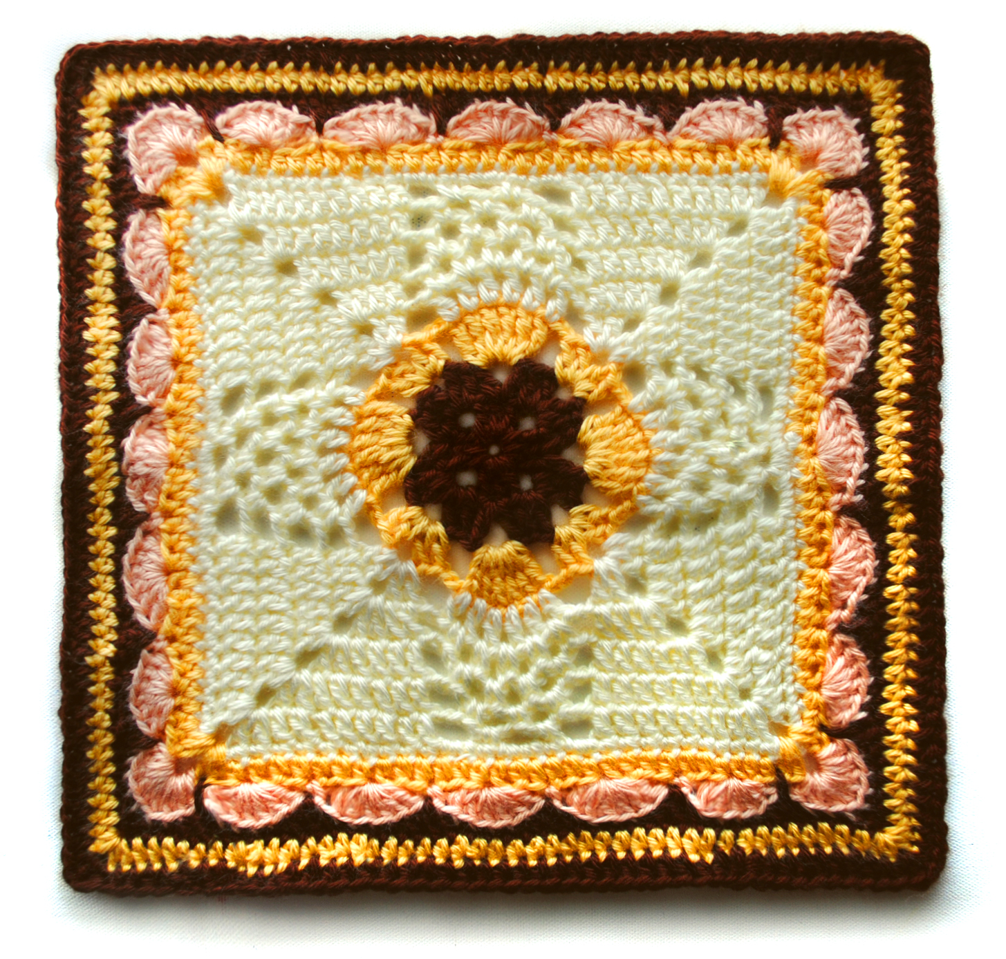 Pineapple Crochet Square - mellie blossom