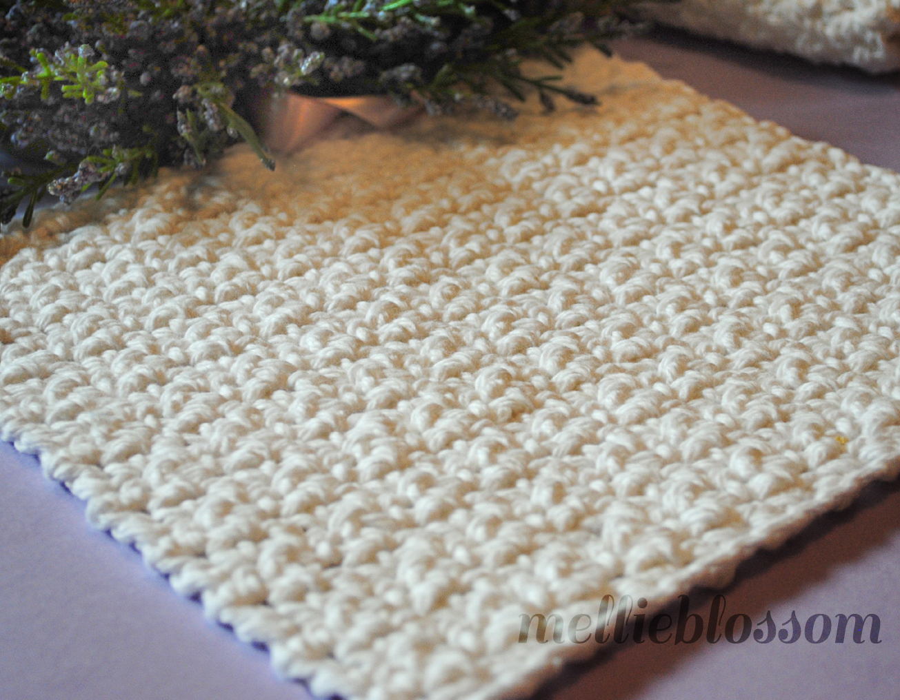 Crocheting Dishcloths : Free Easy Crochet Dishcloth Pattern - mellie blossom