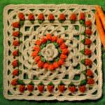 Crochet Carrots Square