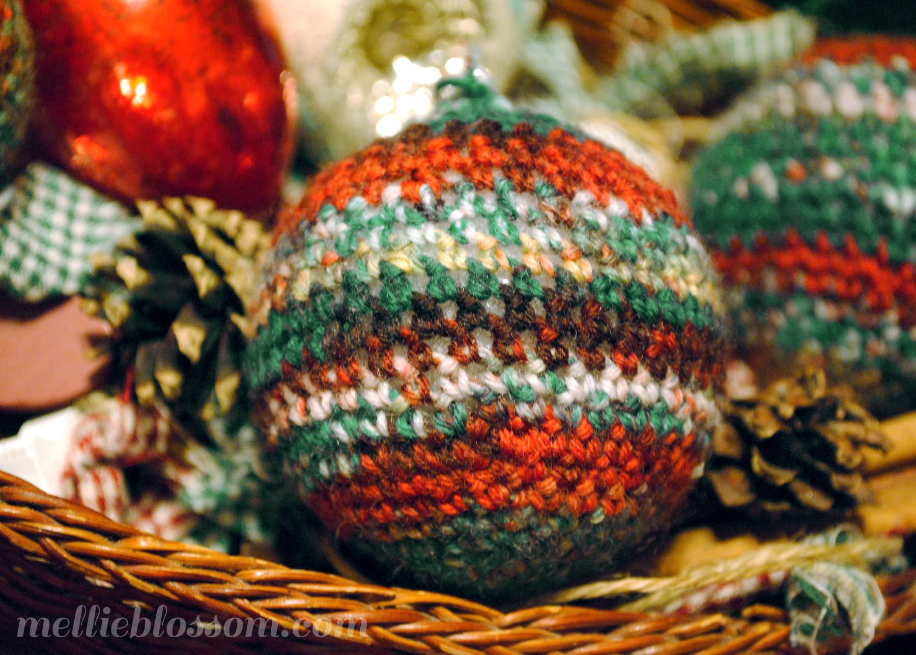 Styrofoam christmas ornaments - Crochet Christmas Ornaments