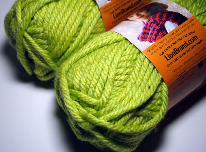 Bulky Yarn : Lime Green Yarn YARNS Pinterest