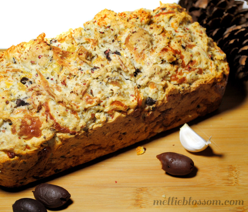 Recipe: Olive Cheese Bread with Garlic and Cracked Black Pepper ...