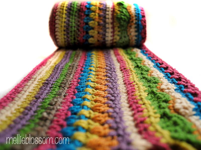 Crochet Stripe Blanket | mellie blossom