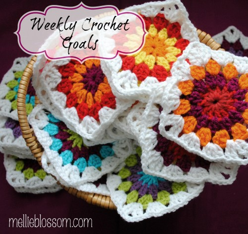 Weekly Crochet Goals