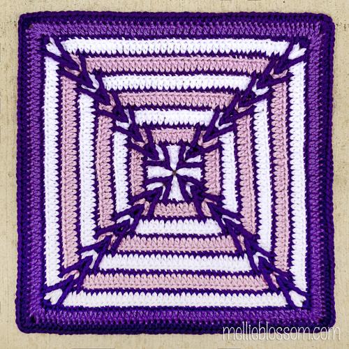 Migration Square - crochet- ~*~mellieblossom.com~*~