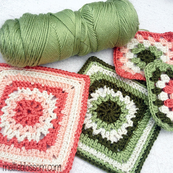 January Crochet Along Squares - mellie blossom