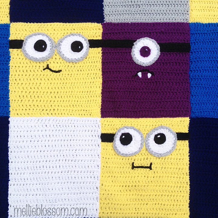 Crochet Pattern For Minion Blanket : Crochet Minions Blanket - mellie blossom