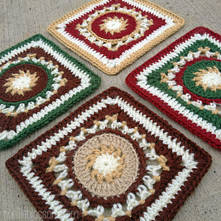 Crochet Along : January Crochet Along Squares- mellieblossom.com