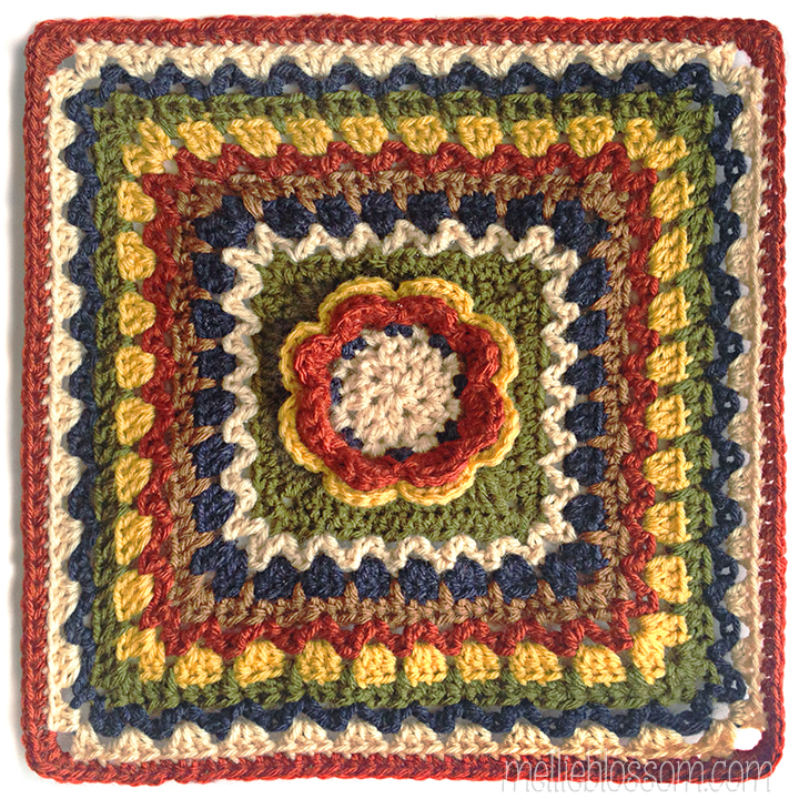 Vannas Choice Crochet Along Squares Mellie Blossom