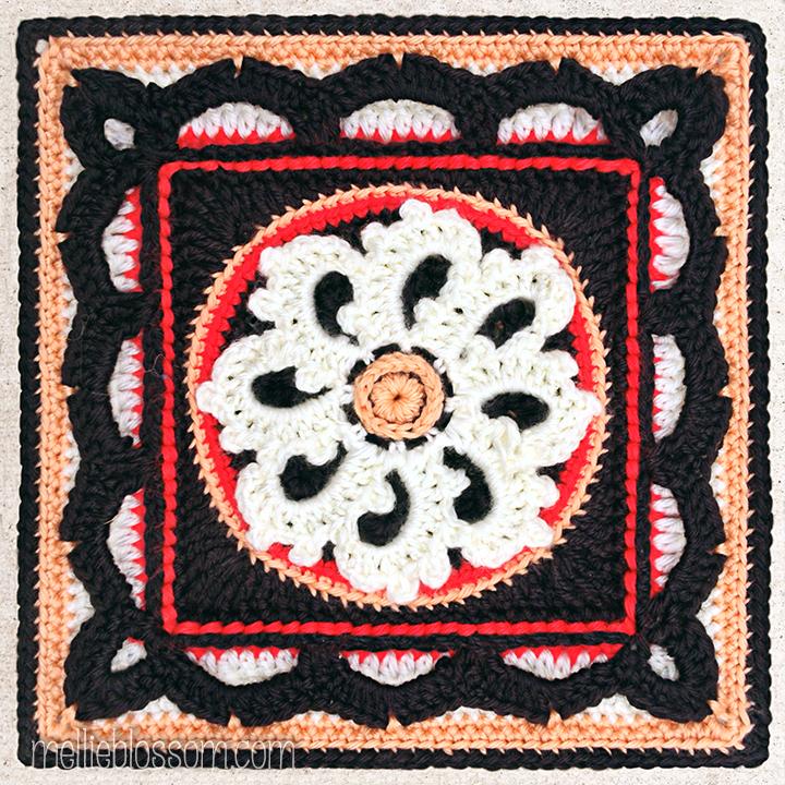 Picturesque Crochet Square in new crochet colors- mellieblossom.com