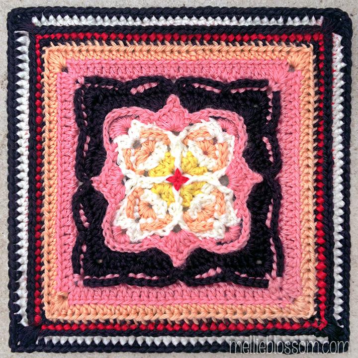 Victor Crochet Square in new crochet colors - mellieblossom.com