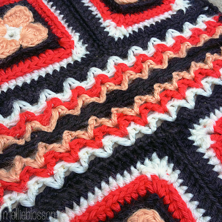 2016 Crochet Along Squares - Lest We Forget Crochet Square: Detail - mellieblossom.com