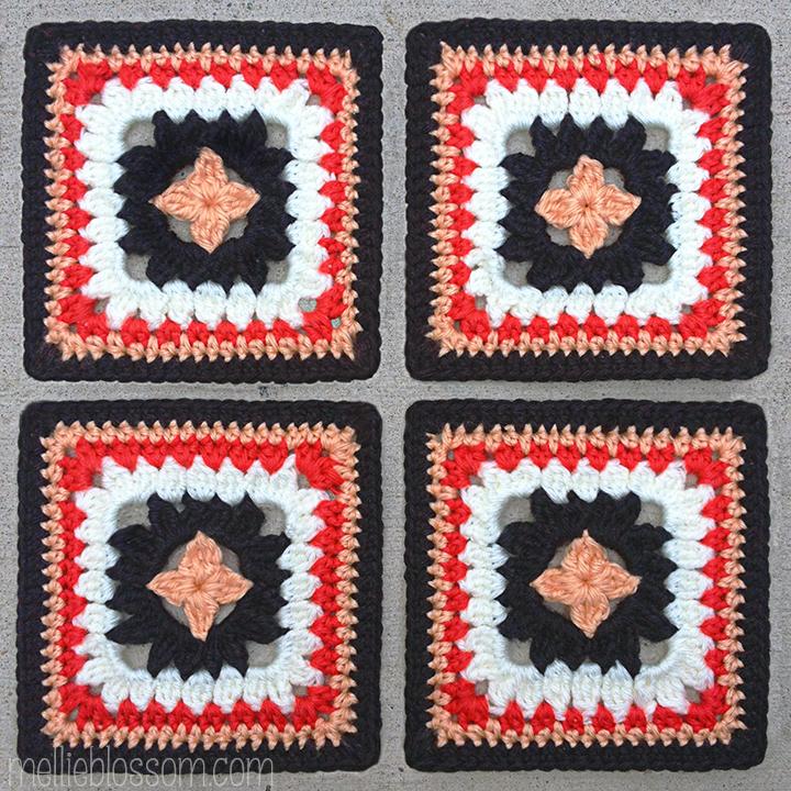 2016 Crochet Along Squares - Petal Patch Squares - mellieblossom.com