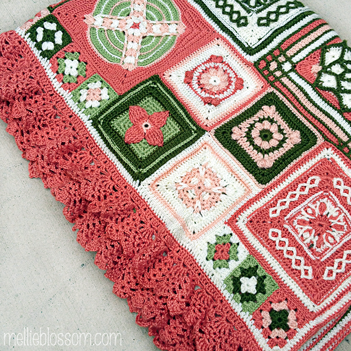 Crochet Along Blanket - finished squares