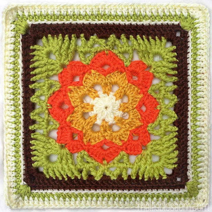 Crochet Along 2017 : 2017 Crochet Along - Kaleidoscope Square - mellieblossom.com