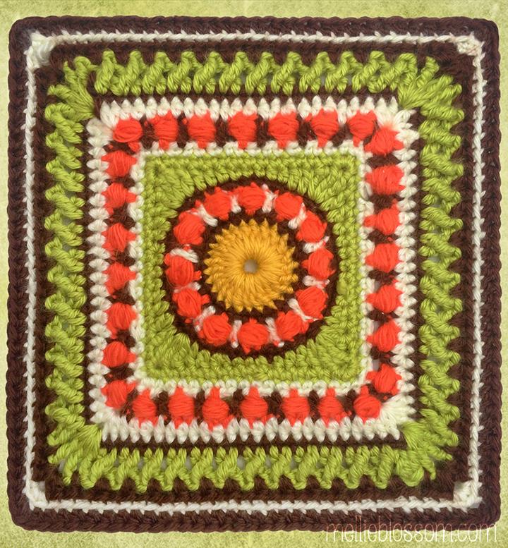 Crochet Along 2017 : 2017 Crochet Along - Moody Blues Crochet Square - mellieblossom.com