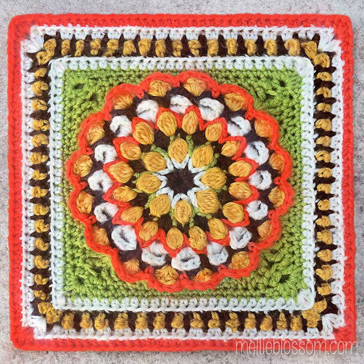 Crochet Squares - March - mellieblossom.com