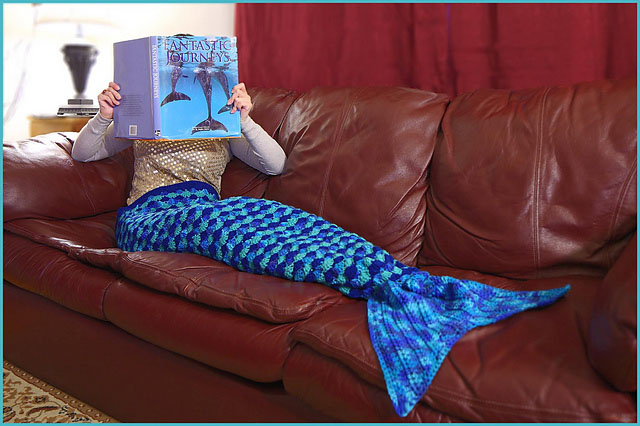 Crochet Trends - Mermaid Tail Blanket